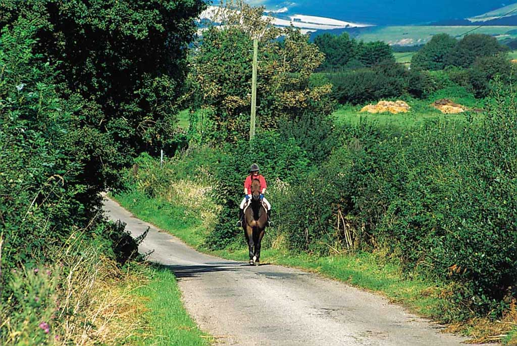 Riding in the countryside - picture by Isle of Wight Tourism